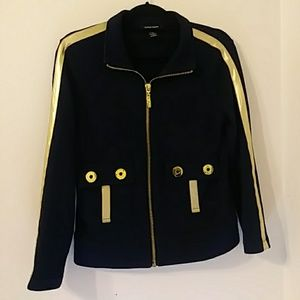 BOSTON PROPER NAVY AND GOLD JACKET